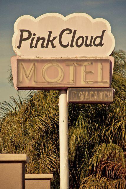 Pink Cloud Motel by TooMuchFire, via Flickr