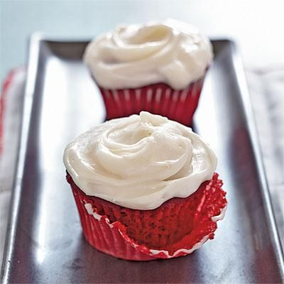 I LOVE red velvet with cream cheese frosting, especially if it's a cooking light recipe!