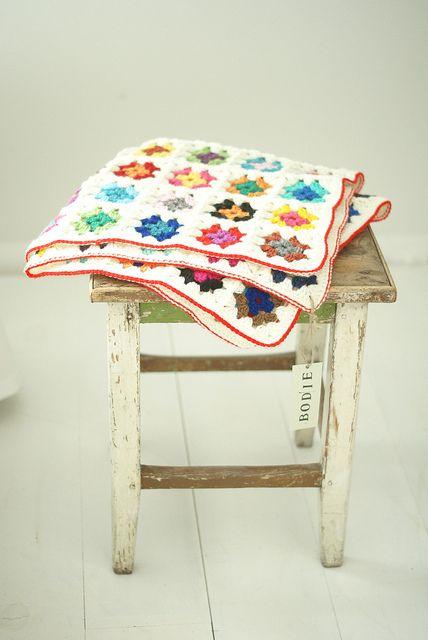 crochet wool blanket  l  Bodie via Flickr