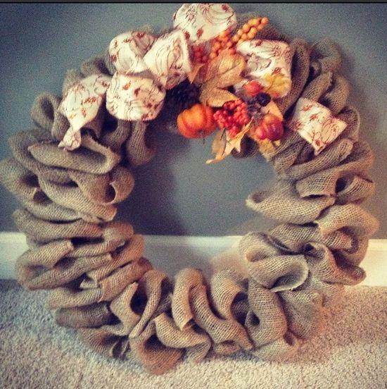Fall Wreath #diy #wreath #fall #handmade #craft #fall #handmade jewelry designers #handmade ravioli #handmade roses #handmade dovetail joints