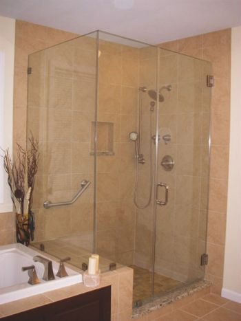 Walk-in shower for master bathroom