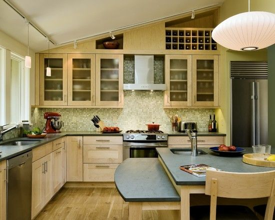 Kitchen Red Birch Cabinets Design, Pictures, Remodel, Decor and Ideas - page 10