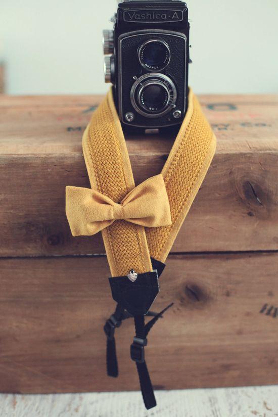 Sweet camera strap.