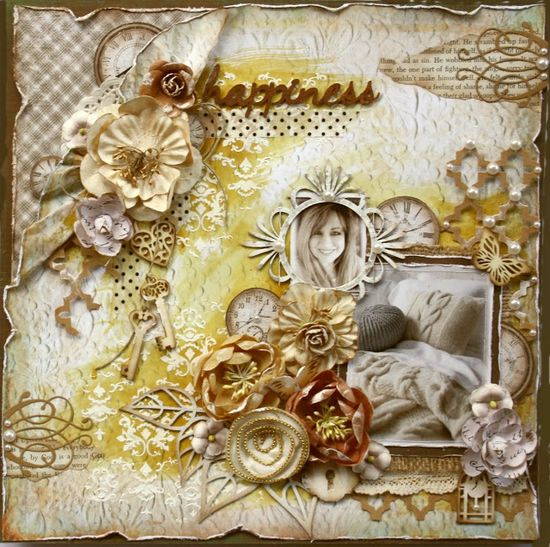 Scrapbook page and video tutorial made for The Scrapbook diaries (kit and video info at gabriellepollacco...