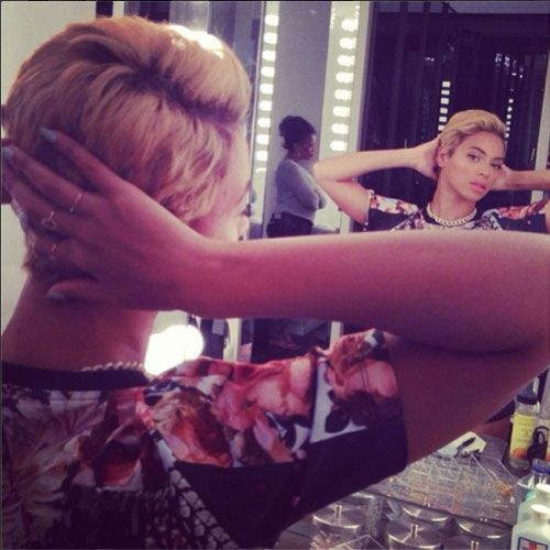 Celebs with short hair - Beyonce!