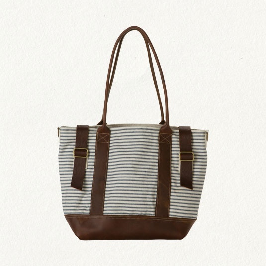 LEATHER & CANVAS WEEKEND BAG