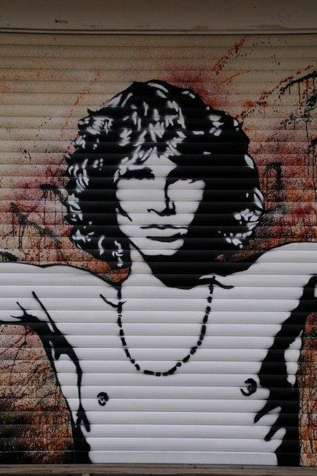 Jim Morrison graffitti   #street #art