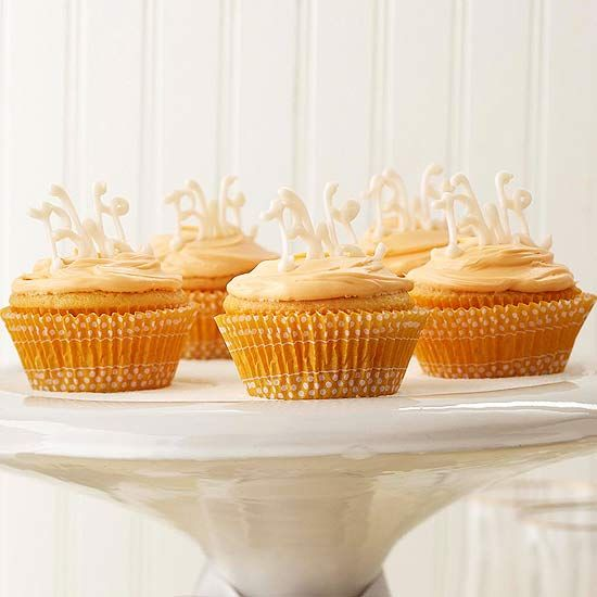 Celebrate someone special with these adorable Monogram Cupcakes. More cupcake recipes: www.bhg.com/...