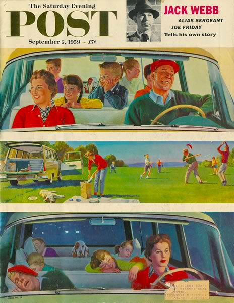 Are we there yet? :) #vintage #1950s #travel #family #magazines
