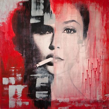 "Artist Anyes Galleani; Mixed Media, ""Judgement"" #art"