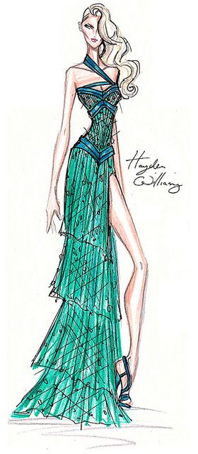 Fashion Sketch: Gown