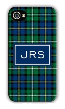 Plaid Blue Cell Phone Case