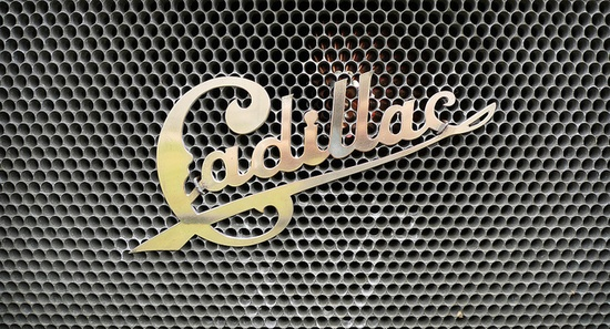 Crazy old Cadillac typography. Really challenges the awesomeness of their current shield!