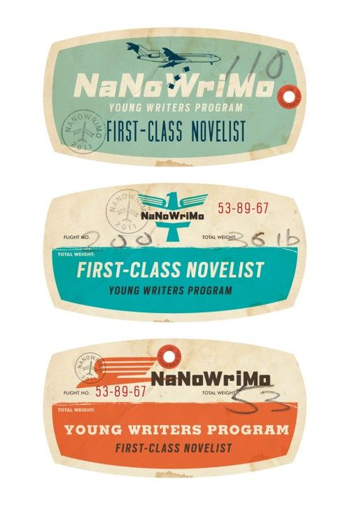 modern vintage luggage tags via Vintage Me Oh My