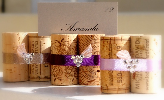 Napa Grapes, Wedding Escort or Place Card Holders