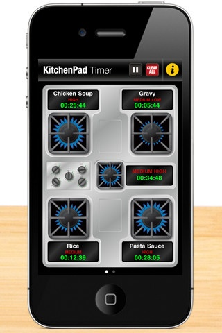 KitchenPad Timer by Prativo Group, Inc: Manage multiple cook times for your stove-top and oven. Never lose track of a dish again! #App #Cooking #KitchenPad_Timer #Timer