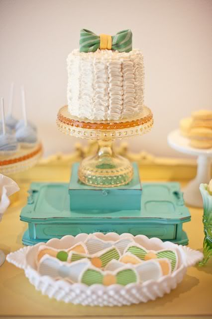 Bow tie 1st birthday party via My Sweet & Saucy - cute idea w/ the bow-tie cookies for baby boy party,  Go To www.likegossip.com to get more Gossip News!