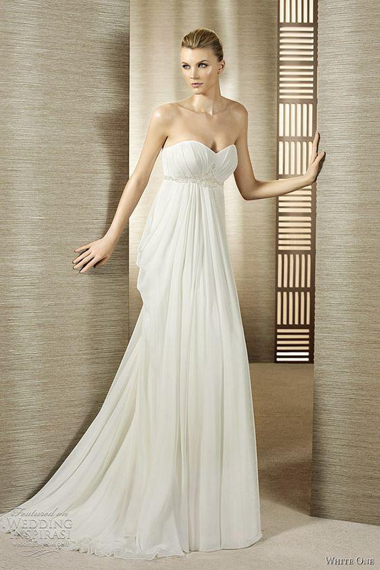 white one empire wedding dress olivia
