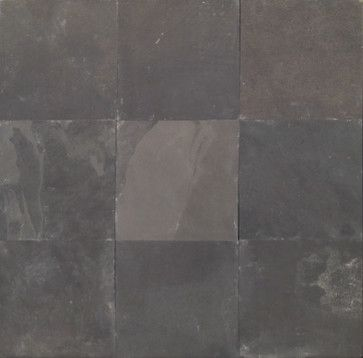 Black Natural Cleft Slate tiles - contemporary - floor tiles - other metro - by Global Granite & Marble