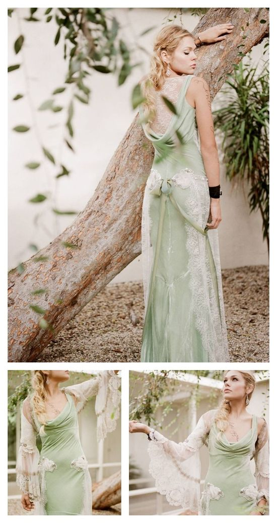 pale green bride