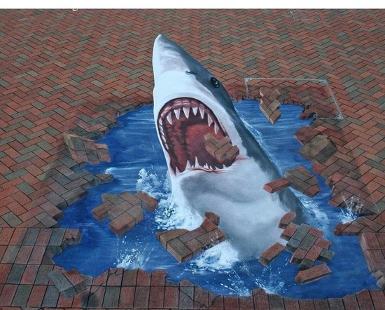 Amazing 3D chalk Art by Anthony Neal Collings Jr