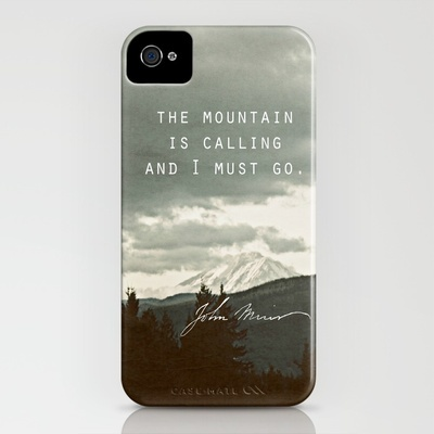 Muir: Mountain iPhone Case by Leah Flores - $35.00