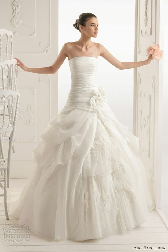 aire barcelona wedding dresses 2013 rumba ball gown