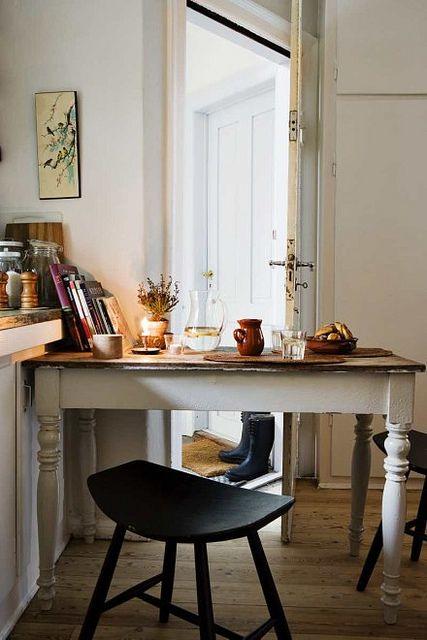 Morten Holtum {white rustic modern kitchen / breakfast nook}