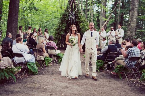Kasey & Josh / Bride wore the Onyx Gown by @Catherine Deane for BHLDN