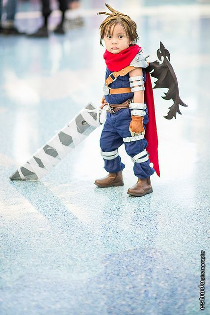Little Cloud Strife from Kingdom Hearts at San Diego Comic-Con 2013 #SDCC #cosplay