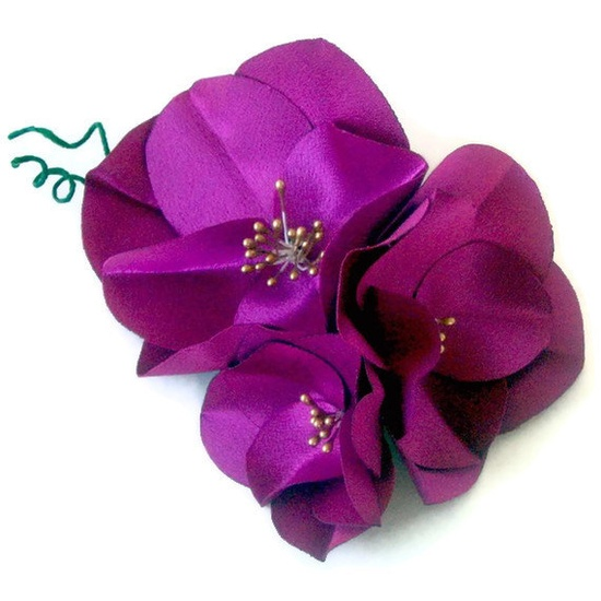 Vintage style handmade fabric flower corsage by mammamiaeme