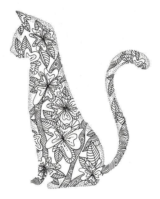 tall cat doodle