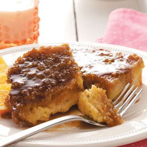 Caramel French Toast Recipe from Taste of Home -- shared by Sherri-Jo Capodiferro of Brightwaters, New York
