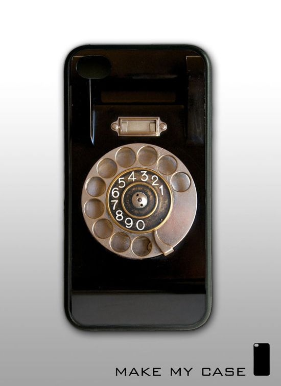 Vintage Phone : iPhone 4 Case, iPhone 4s Case, iPhone 4 Hard Case, iPhone Case