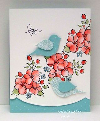 Stampin' Up! - Bordering on Romance & Bird Builder Punch