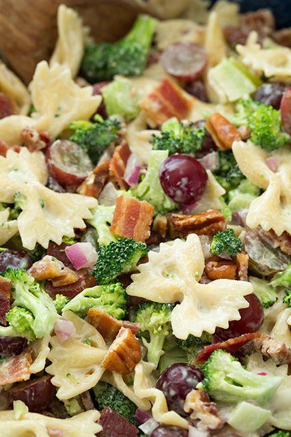 Lighter Broccoli, Grape, and Pasta Salad