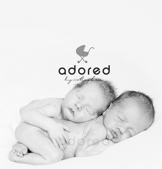Twin Newborn Photography: Meghan Rickard Photography