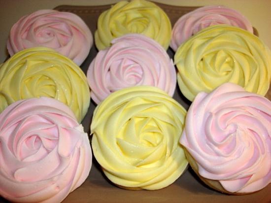 Romantic Rosette Sugar Cookies  by WackyCookies