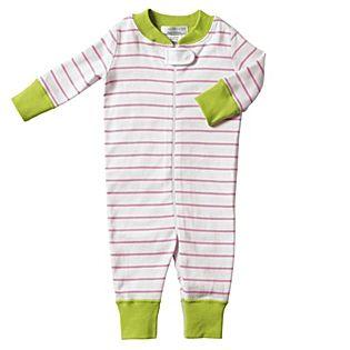 Hanna Andersson Baby Sleeper - Pink Stripe