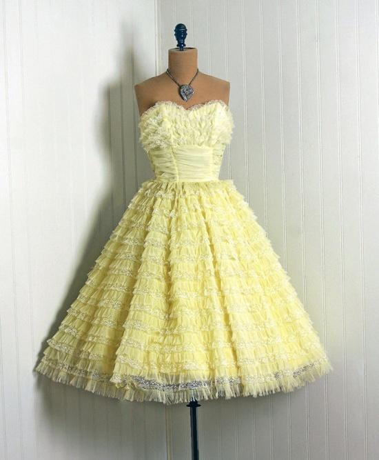 yellow vintage 1950