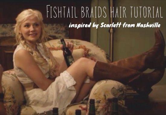 Fishtail Braids Hair Tutorial