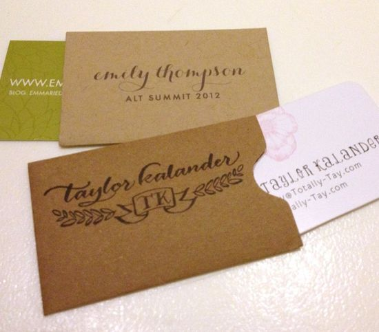 biz card envelopes