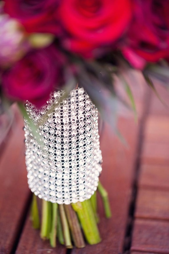 Rhinestone Bouquet Wrap ~ Photography by weheartphotograph..., Floral Design ~ botanicallure.com