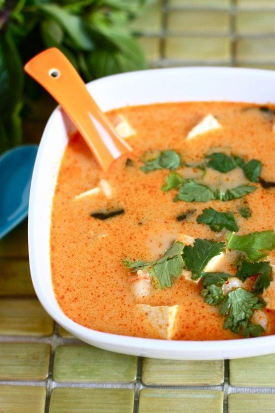 This Fire Pot Coconut Soup sounds amazing. I would use coconut palm sugar instead of brown.
