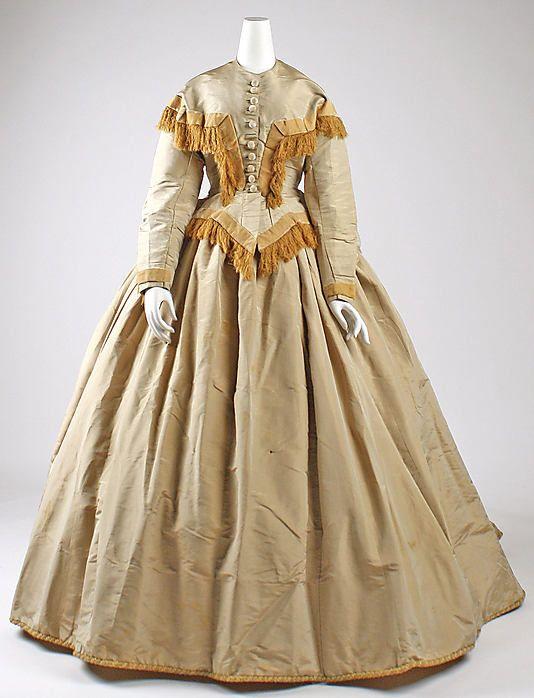 Dress  Date: ca. 1863 Culture: American Medium: silk