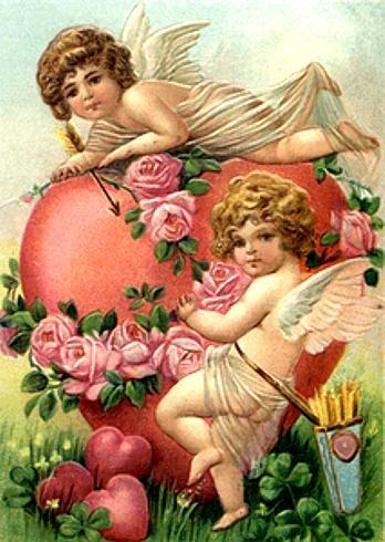cupid vintage valentine
