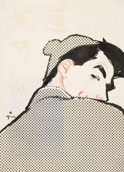 Men's Fashion Illustration by René Gruau (c. 1950)