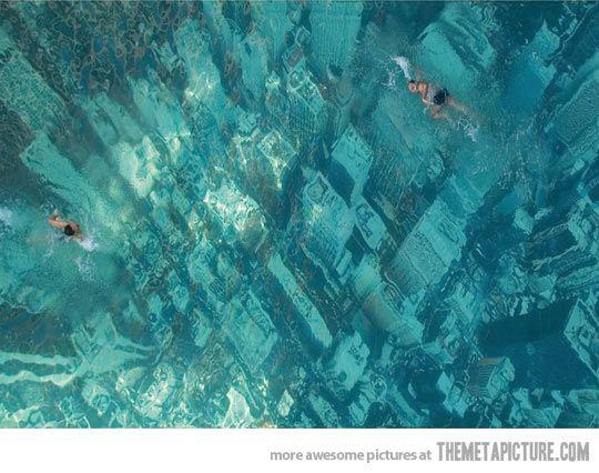 Swimming over a sunken city, Bhakti Park, Wadala…
