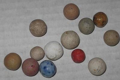 antique handmade marbles