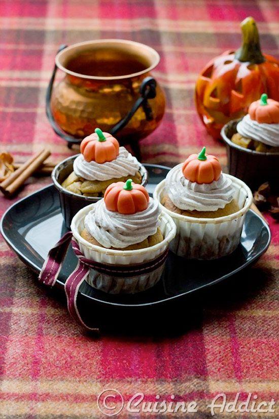 Pumpkin & Chocolate Chip Cupcakes -